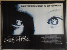 Lady in White, Original UK Quad Poster, Lukas Haas, Alex Rocco, '88